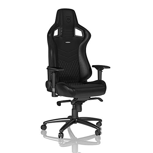noblechairs Epic Gaming Chair - Office Chair - Desk Chair - Real Leather - Black noblechairs