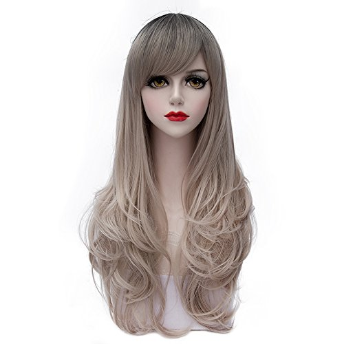 Cheap Womens Costumes Australia (TopWigy Women's Wig Long Curly Wavy Fashionable Lolita Costume Cosplay Synthetic Wig+Wig Cap (Gray Gold) 28