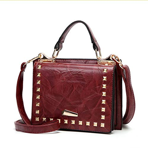 Dark nbsp; Alta Mujeres De Bags Bag nbsp;las Shoulder nbsp; Women Lujo Leather Red Messenger Calidad nbsp;pu Mzdpp Design q6naAzWnx