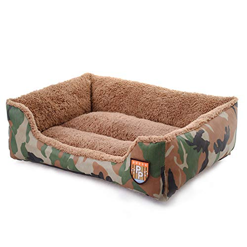 Camouflage M Camouflage M Pet Bed, Sofa Bed, Cat Litter, Can Be Washed with Water,Easy to Clean (color   Camouflage, Size   M)