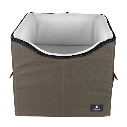 X-ZONE PET Dog Booster Car Seat/Pet Bed at Home, with Pockets and Carrying case,Easy Storage and...