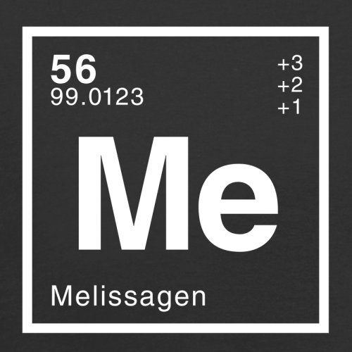 Melissa Periodensystem - Herren T-Shirt - Schwarz - L
