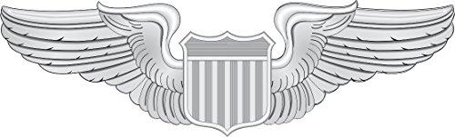 Magnet US Air Force Pilot Wings Decal Military Veteran Served Car Bumper Sticker Magnetic Vinyl -