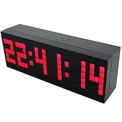 Chihai Digital Led Clock Wall Alarm Digital Calendar Clock Count Down Timer(red)