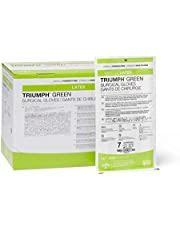 Medline MSG2570 Triumph Green with Aloe Sterile Powder-Free Latex Surgical Glove, Size 7 (Pack of 200)