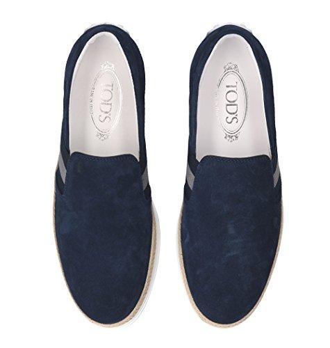 Tods Herren XXM0TV0V530RE0U820 Blau Leder Slip On Sneakers