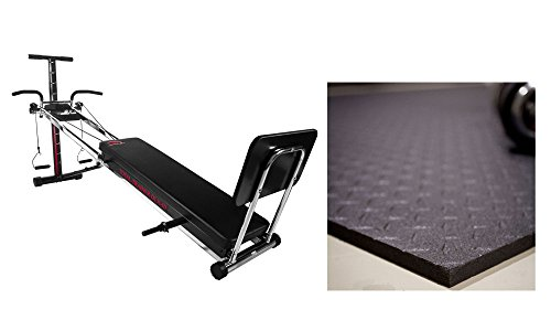 Workout Machines for Home Gym Chrome Plated Rails and Attachments Home Gym Equipment Bundled with Gym Mat for Home Made in America Bayou Fitness