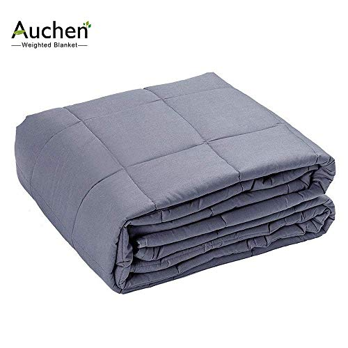 Cheap Weighted Blanket Adult 15 lbs 60X80in for Individual Between 150-180lbs|Premium Weighted Blanket for Adults Bring Good Sleep|Dark Grey Black Friday & Cyber Monday 2019