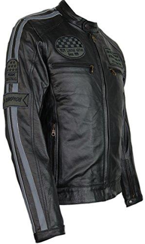 MDM Herren Motorrad Lederjacke (3XL)