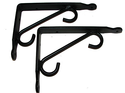 Shelf Brackets (Pr.) Small-Hand Made Wrought Iron