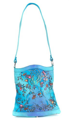 ZIMBELMANN PENELOPE Genuine Nappa Leather Hand-painted Tote Shoulder Bag by Zimbelmann