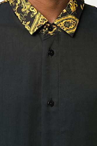 Versace Jeans Couture - Camisa de hombre negra con impresión ...