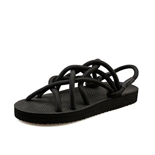 Xing Lin Flip Flop De La Playa Verano Nuevo Sandalias Zapatos De Tallas Grandes Tendencia Arena Beach Travel Sandalias Black 2