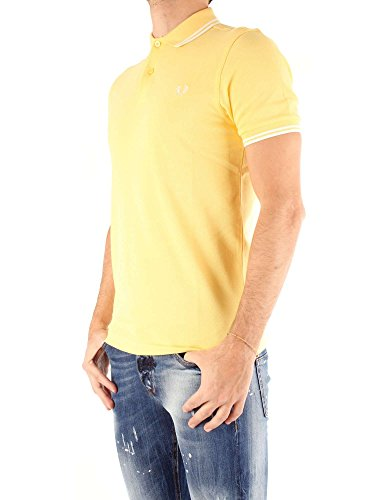 Giallo Uomo Tipped Yellow Polo 1965 Fred Twin Shirt Perry F76 AqaFw7