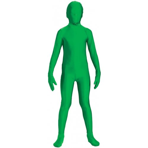 Green Body Suit Costume (Forum Novelties I'm Invisible Costume Stretch Body Suit, Green, Child Medium)