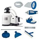 Intex 3000 GPH Above Ground Pool Sand Filter Pump w/Deluxe Pool Maintenance Kit