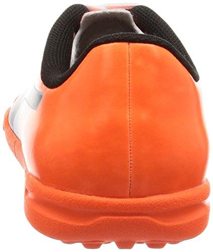 Puma Unisex-Kinder evoSPEED 5.5 TT Jr Fußballschuhe Bianco/Nero/Shocking Orange