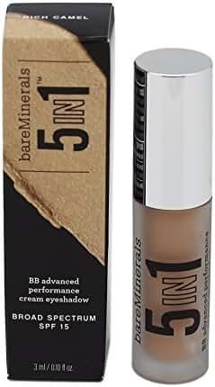 bareMinerals 5-in-1 BB Advanced Performance Cream Eyeshadow, Rich Camel, 0.1 Fluid Ounce