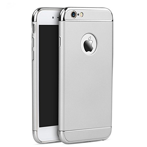 iPhone 6s Case , Acewin Ultra Thin and Slim Metal Texture Armor PC Hard Back Premium Case Cover & Skin for Apple iPhone 6 / iPhone 6s (4.7 Inch) (Silver)