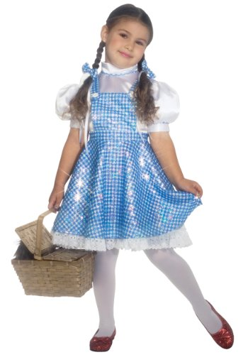 [Little Girls' Toddler Sequin Dorothy Costume X-Large] (Dorothy Kid Costumes)