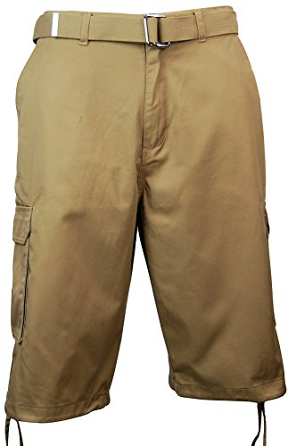 Long Inseam Shorts (Men's Original Style All-Purpose Cargo Short (32, Khaki))