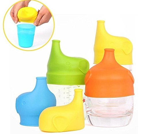 Price comparison product image Wensltd Premium Safety For Kids Silicone Sippy Lids - Make Any Cup a Sippy Cup (Yellow)