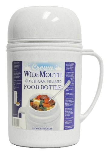 Glass Cylinder Bowls - Brentwood RAZ05 Wide Mouth Glass Vacuum/Foam Insulated Food Thermos, 0.5-Liter