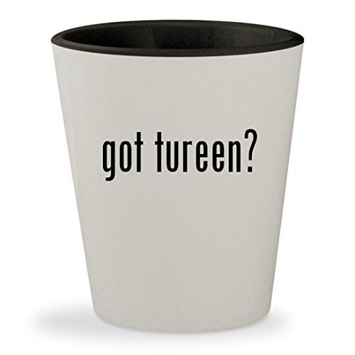 got tureen? - White Outer & Black Inner Ceramic 1.5oz Shot Glass