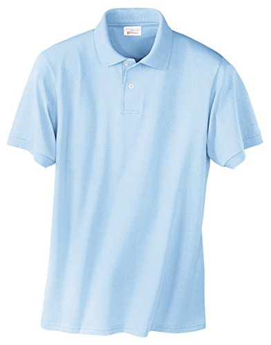 Stedman by Hanes 5.5 oz 50/50 Jersey Knit Polo in Light Blue - (50 Blended Jersey Polo)