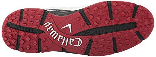 Callaway Men's Balboa Vent Golf Shoe, White/Black, 13 W US