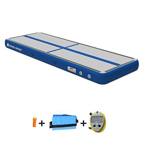 Sinolodo Air Track Diamond Blue Air Floor for Cheerleading, Gymnastics Training, Beach, Water or Home Length 118 Inches