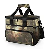 Rachel Dora 15L Picnic Basket Keeps Food Hot/Cold for 12 Hours Lunch Tote Dinosaur Jungle Sunset Insulated Picnic Cooler Bag for Grocery, Camping, Car,Travel, Shopping, Outdoor