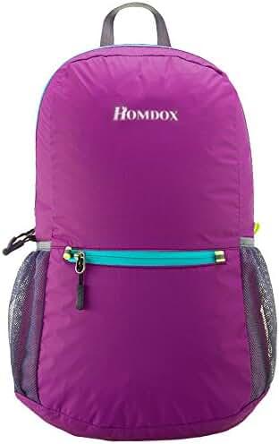Homdox 22L Ultra Lightweight Packable Travel Backpack Handy Foldable Hiking Daypack - Durable & Waterproof