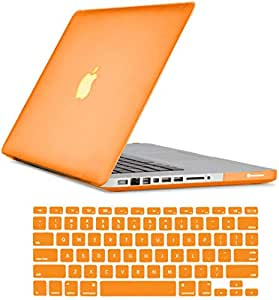 "Crystal Orange Hard Shell Case Keyboard Cover For Apple Mackbook Air 13.3"""""""" Inch"