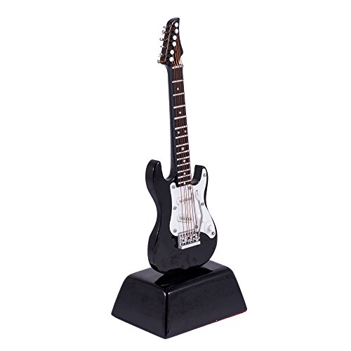 gibson black electric guitar music instrument miniature replica on stand size 6 in buy. Black Bedroom Furniture Sets. Home Design Ideas