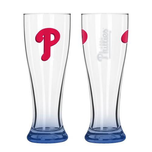 Boelter Philadelphia Phillies Glass - Boelter Brand Philadelphia Phillies 16 Oz. Elite Pilsner Glass