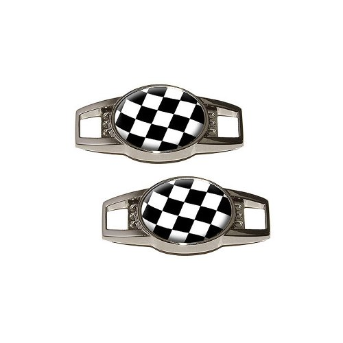 Checkered Flag Sneaker Shoelace Decoration