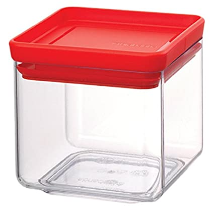 Brabantia Square Canister Barattolo, Tasty Colours Mint, 0.7 l 290121