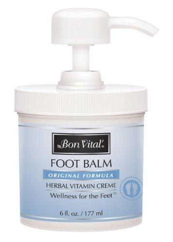 Bon Vital Original Foot Balm, 6oz Jar with Pump