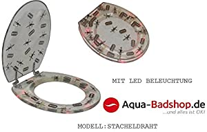 barbed wire toilet seat. Designer Toilet Seat with LED Barbed Wire Design Transparent New