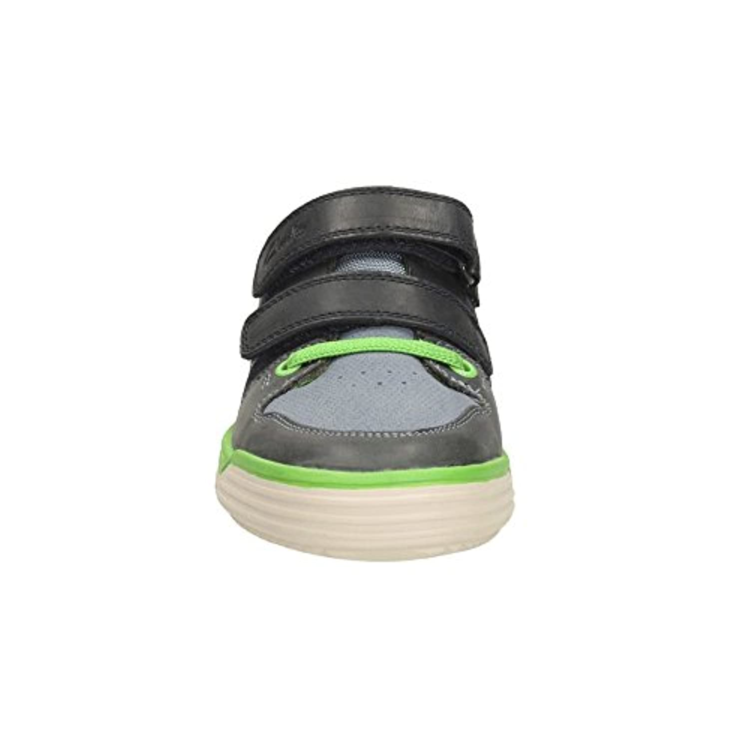 Clarks Boys Out-Of-School Chad Skate Jnr Leather Shoes In Navy Standard Fit Size 1