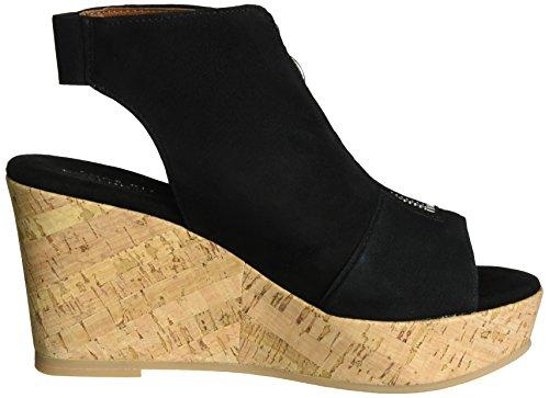 Wedge Biz Sandali Shoe Black Donna con Zeppa Suede Nero w5PWxHqFWO