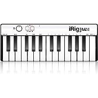 IK Multimedia iRig Keys - Mando de teclado para iPhone, iPad, Android y Mac/PC, 25 teclas de tamaño miniatura sensibles a la velocidad