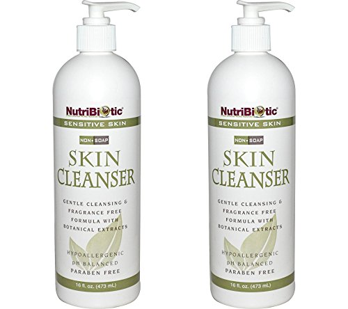 - NutriBiotic Sensitive Skin Non-Soap Skin Cleanser (Pack of 2) with Aloe Vera Leaf Powder, Grapefruit Seed Extract, Rosemary Leaf Extract, Sage Extract, Coltsfoot Extract and Thyme Extract, 16 oz.