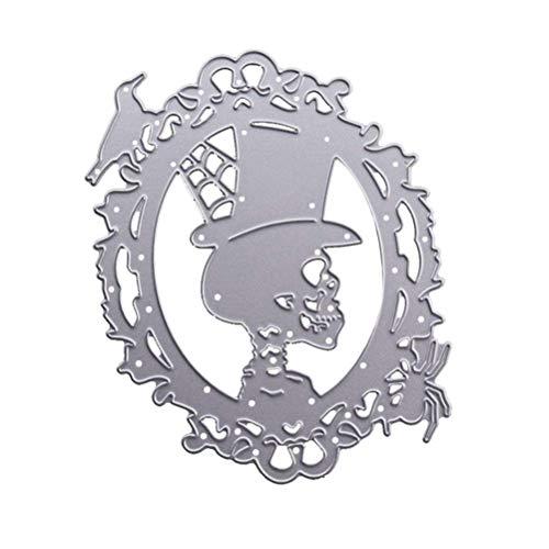 Semoic Metal Cutting Dies for Halloween Skull Scrapbooking Steel Craft Die Cut Creative Stamp Embossing Cards -
