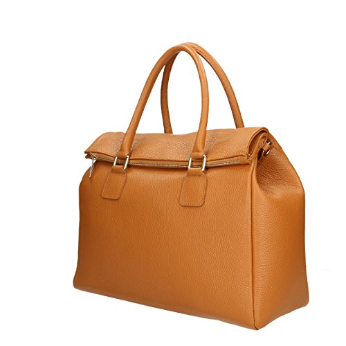 Sac Made véritable main à Cm Italy 37x30x15 femme Aren cuir in Bronzage en dqad0p
