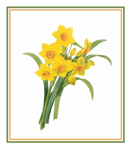 Orenco Originals Daffodil Flowers by Pierre-Joseph Redoute Counted Cross Stitch Pattern