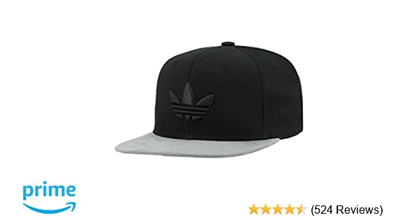 buy popular c836c 8657a ... sale amazon adidas mens originals trefoil chain snapback cap black  twill grey suede one size sports