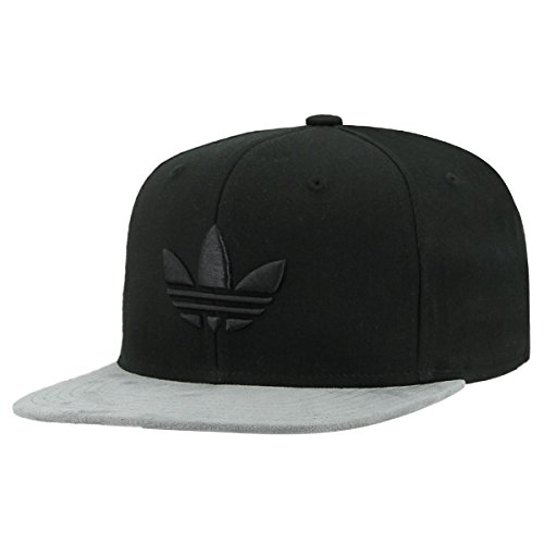 adidas Men's Originals Trefoil Chain Snapback Cap, Black Twill/Grey Suede, One Size ()