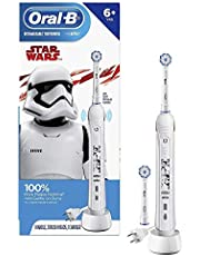 Oral-B Kids Electric Toothbrush with Coaching Pressure Sensor and Timer, for Kids 6+, Includes 2 Brush Heads